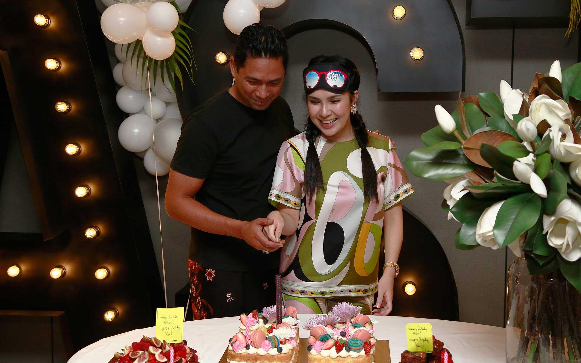 Erwin Azizi and Angela Karto
