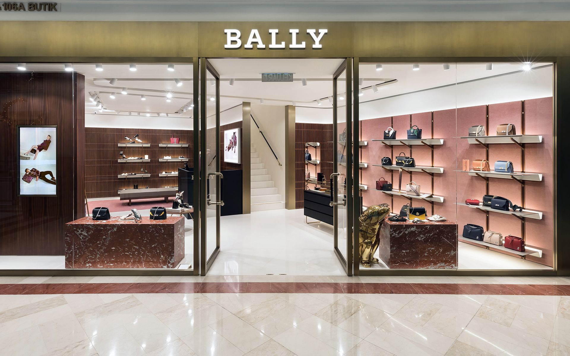The Bally Suria KLCC flagship store covers 2 levels, each dedicated to men's and women's collections