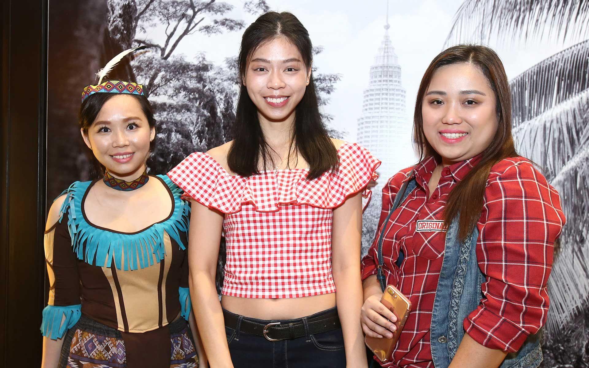 Eunice Chew, Wong Yingjie and Elise Wong