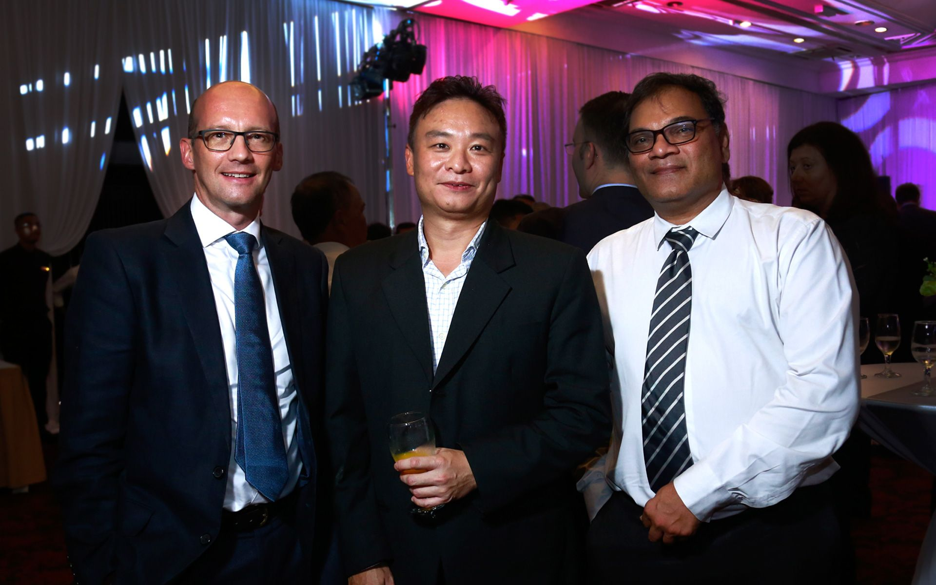Simon Watson, Cedric Choo and Rajes Raghavji Patel