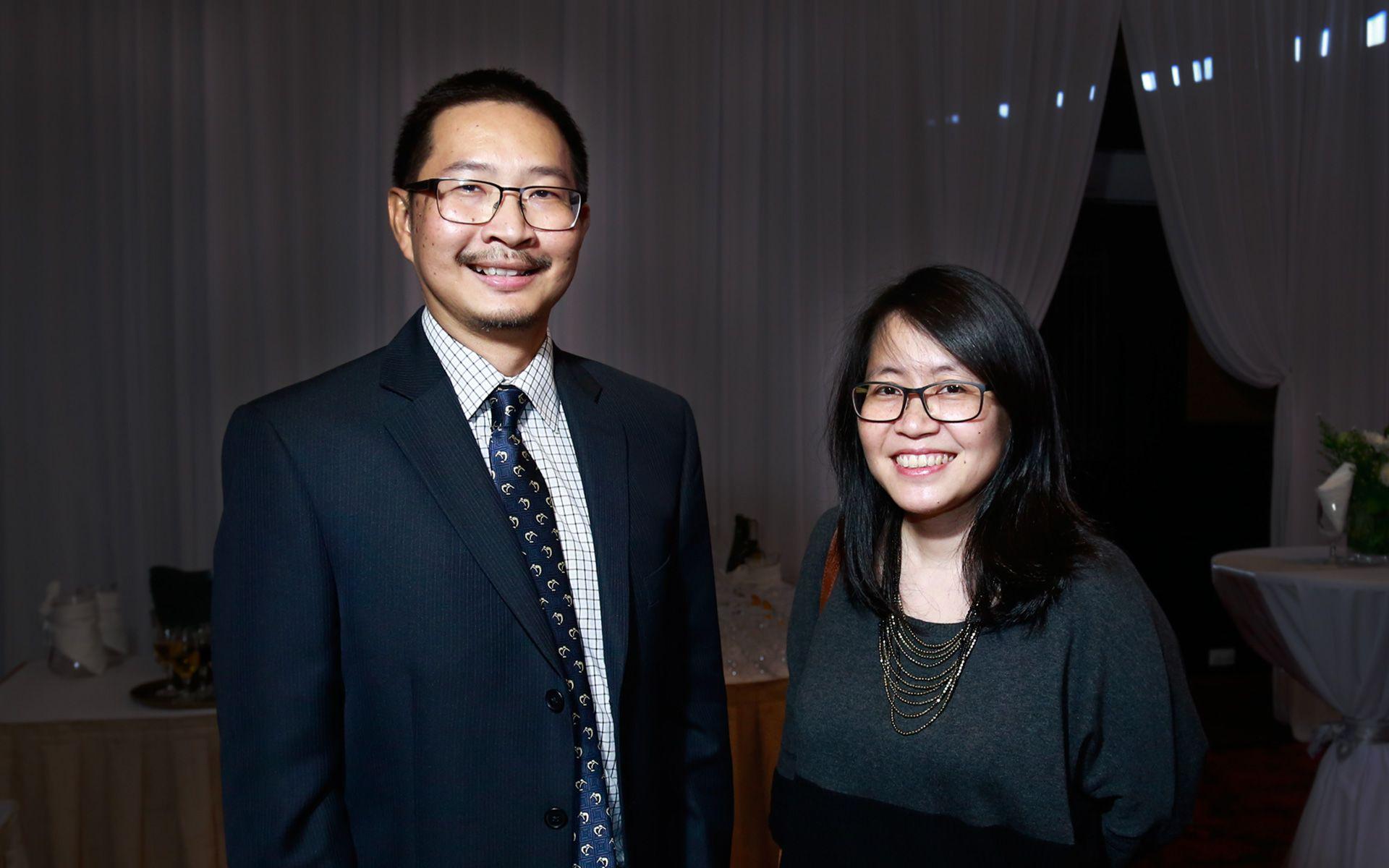Ridzwan Othman and Caroline Yap Kim Ming