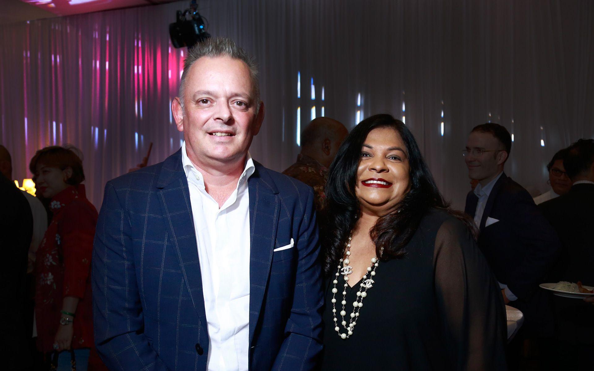 Dion Vercoe and Hazel Fernandez