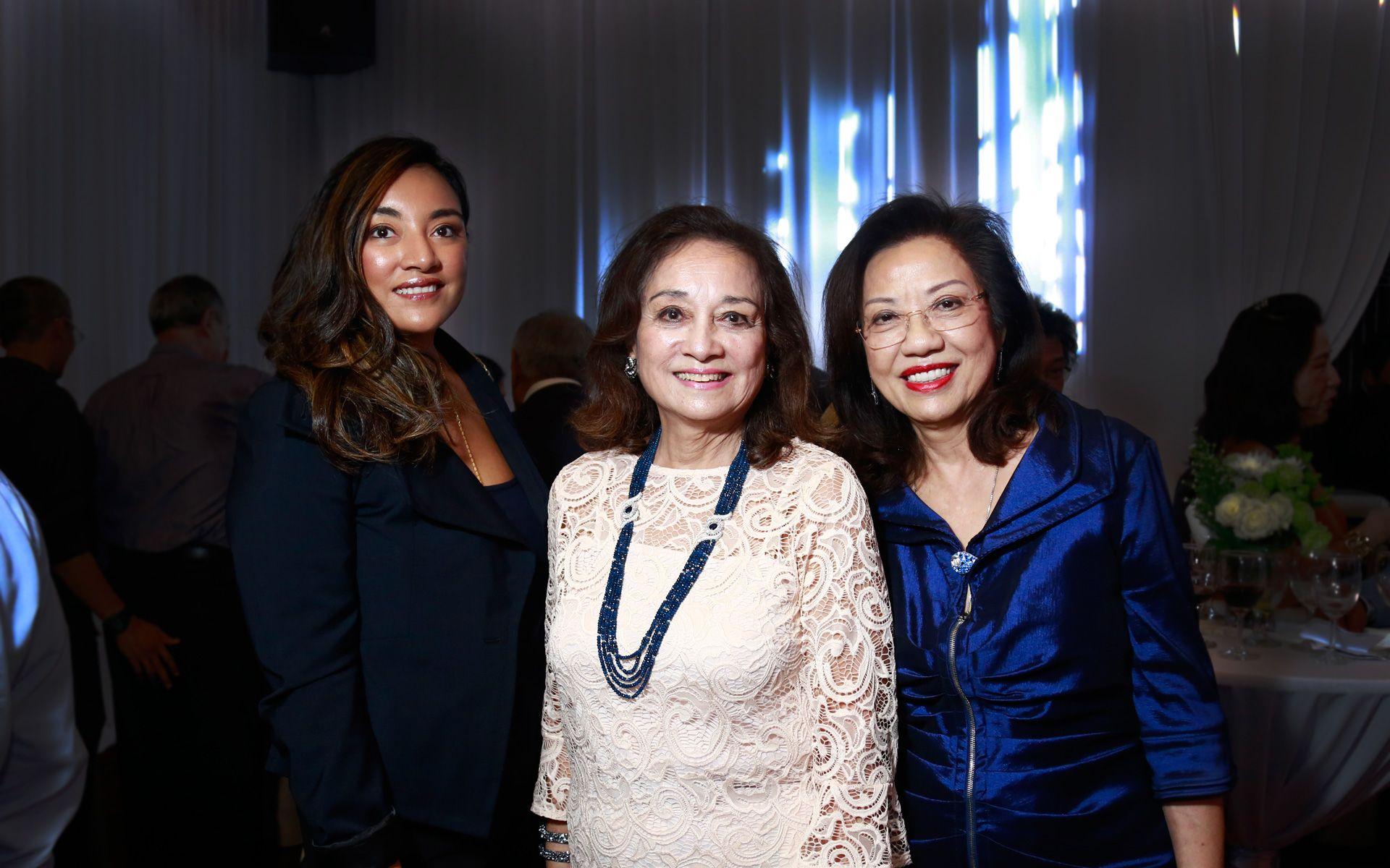 Tunku Myra Madinah, Tunku Dara Naquiah and Puan Sri Siew Yong Gnanalingam