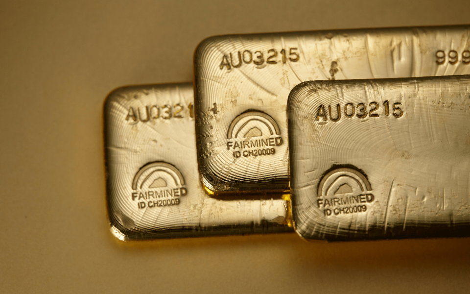 Fairmined gold ingots. Photo: Chopard