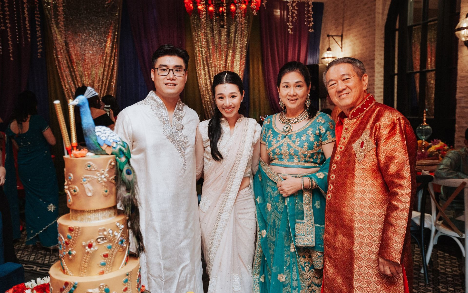 Law Wai Cheong, Diani Lee and Puan Sri Tan Bee Hong and Tan Sri Lee Kim Yew