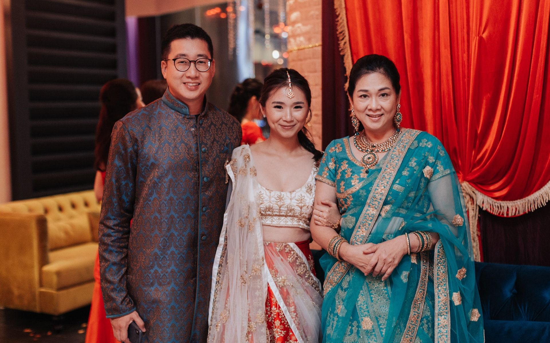 Robin Ang, Dianna Lee and Puan Sri Tan Bee Hong