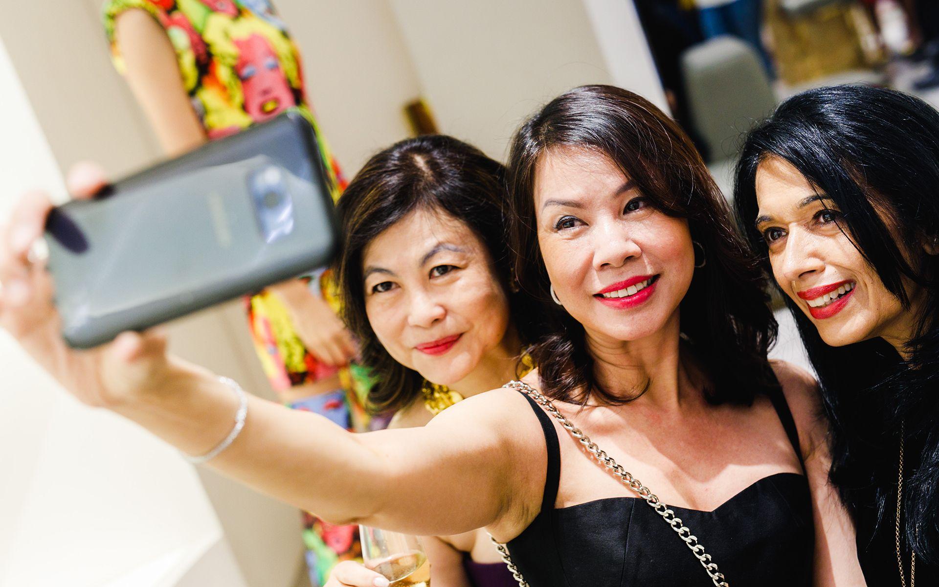Chan Yue Yee, Yenti Lou and Datin Angie Abdullah