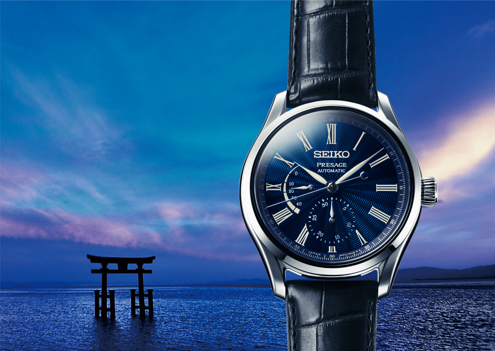 Seiko Presage Shippo Enamel Limited Edition with power reserve indicator