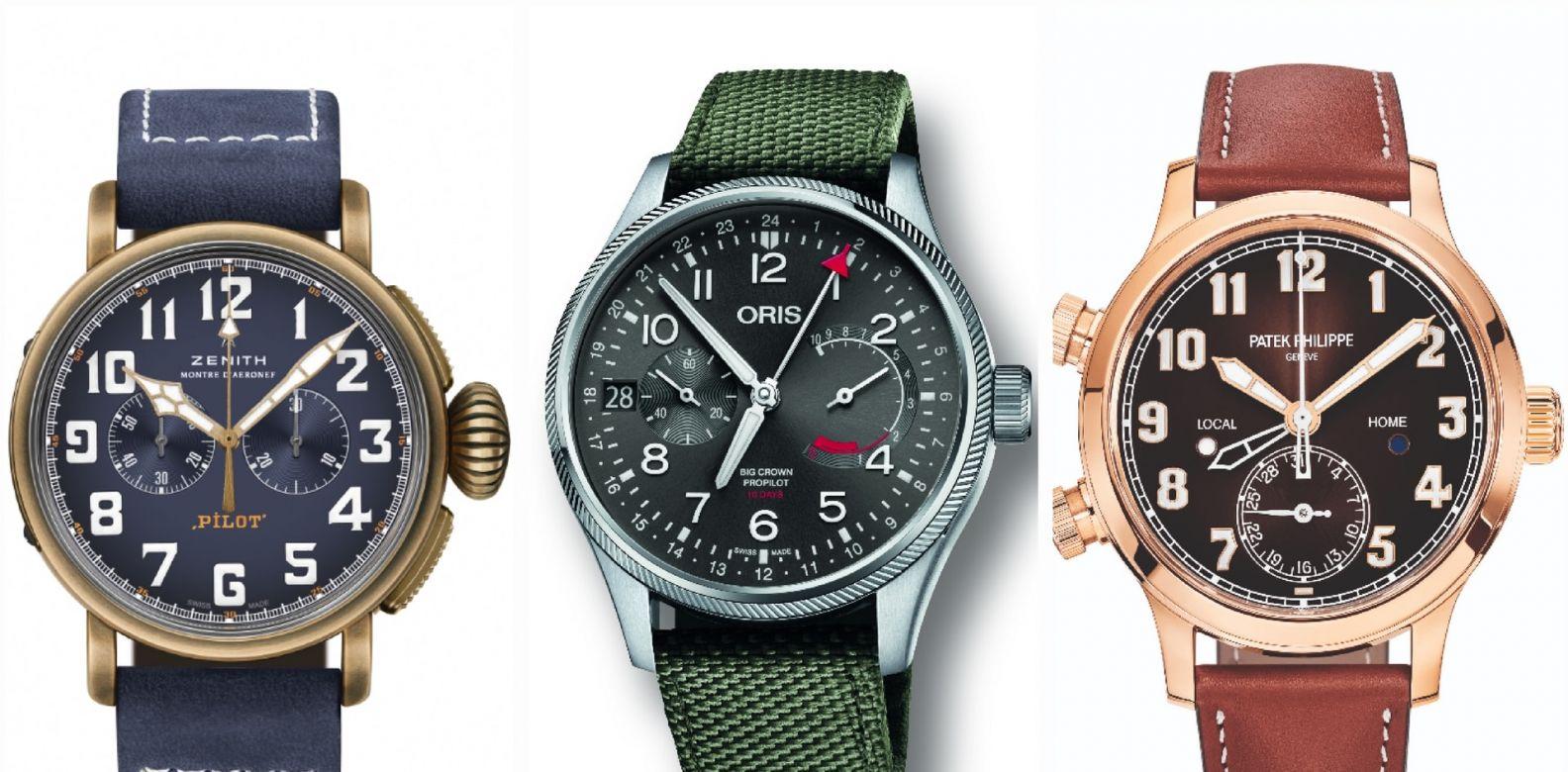 From left: Zenith, Oris and Patek Philippe (Photos: Respective brands)