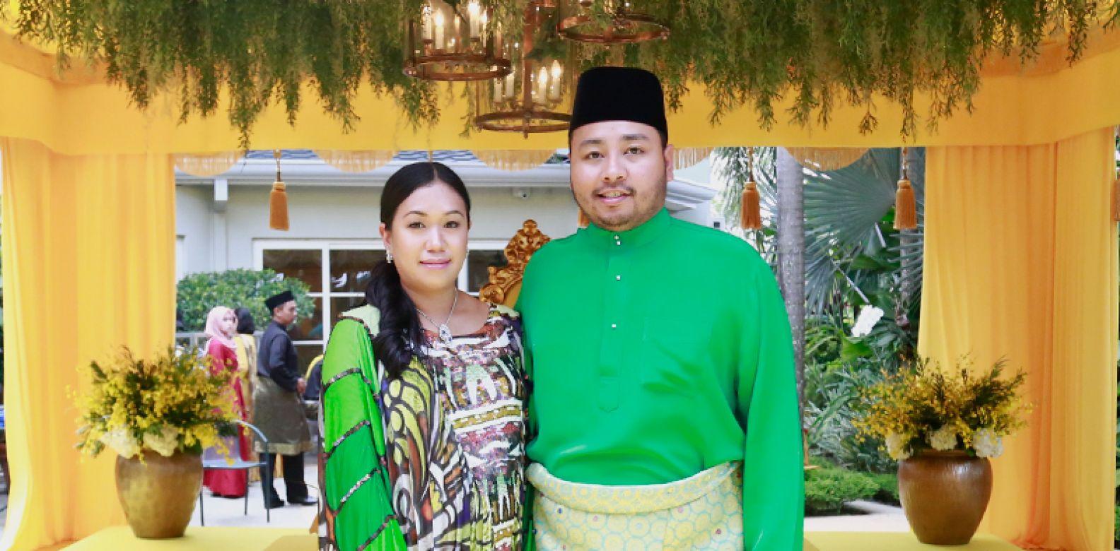 Che Puan Nina Karina and Tengku A'zran Abdul Jawaad