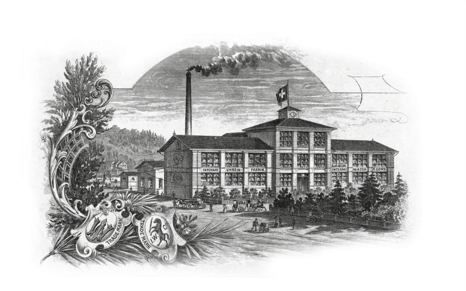 A drawing of IWC's headquarters (Photo: IWC Schaffhausen)
