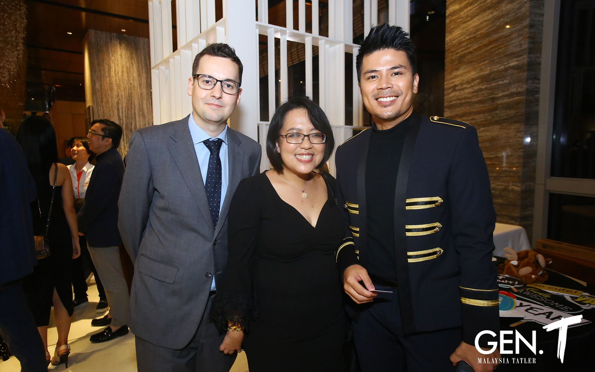 Lee Williamson, Lily Ong and Awal Ashaari