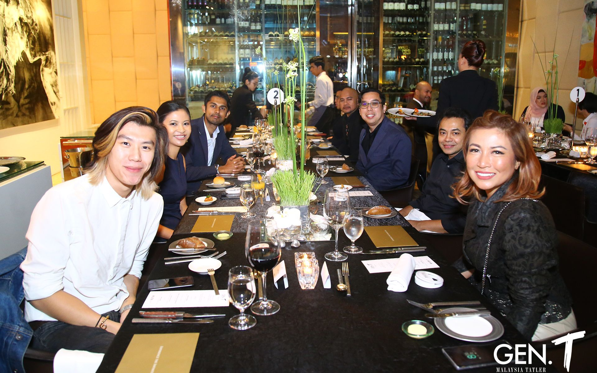 Brian Chan and Puan Sri Tiara Jacquelina, together with their dinner companions