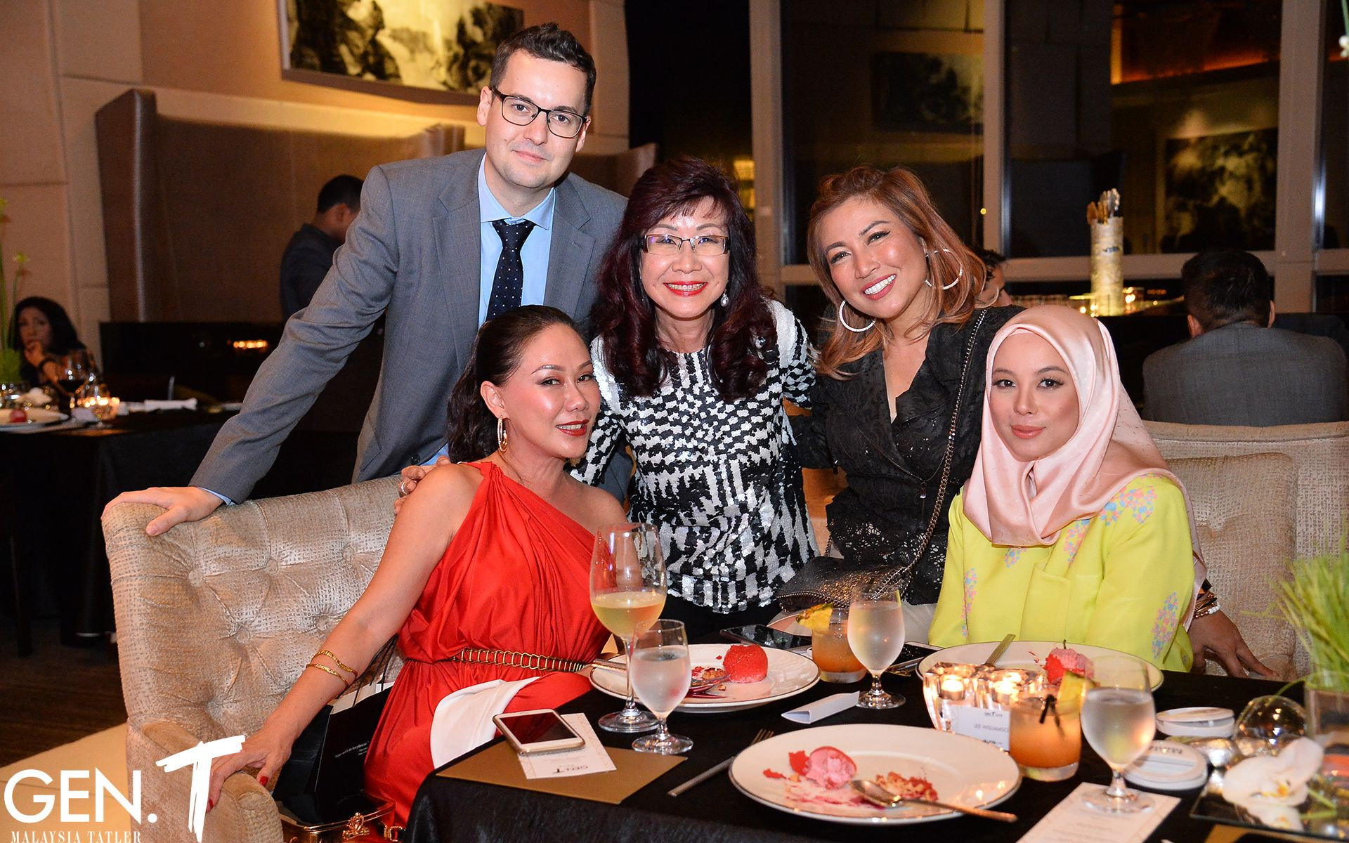 Lee Williamson, Michele Kwok, Florence Fang, Puan Sri Tiara Jacqelina, Datin Vivy Yusof