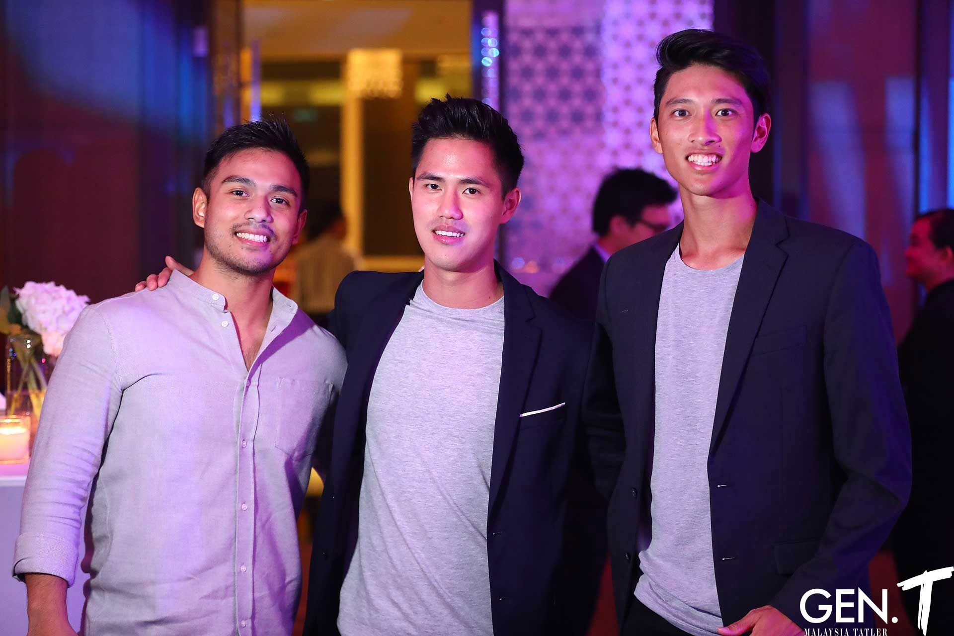 Jonathan Lourdes, Mark Choo and Christian Lee