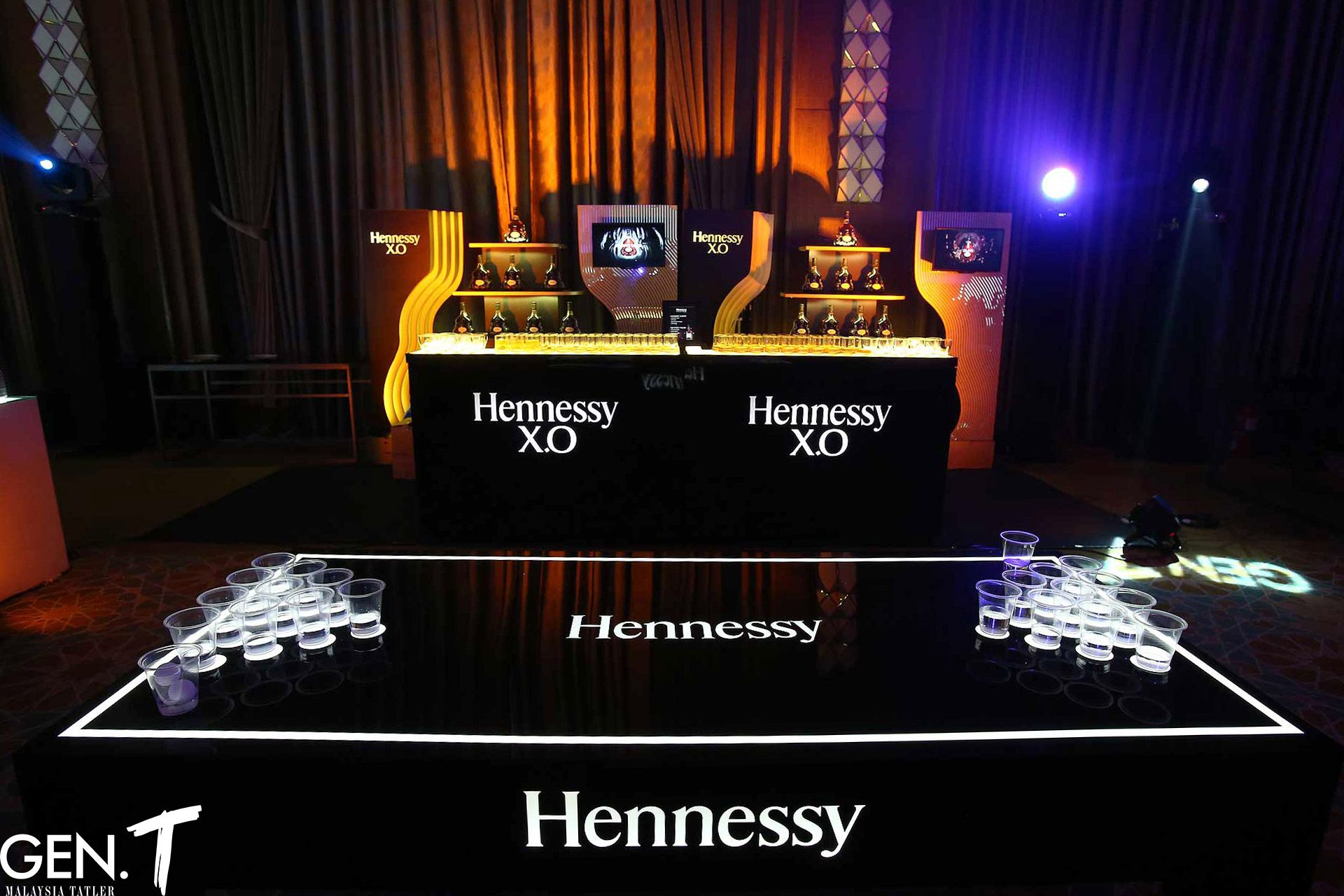 Hennessy bar and pong table