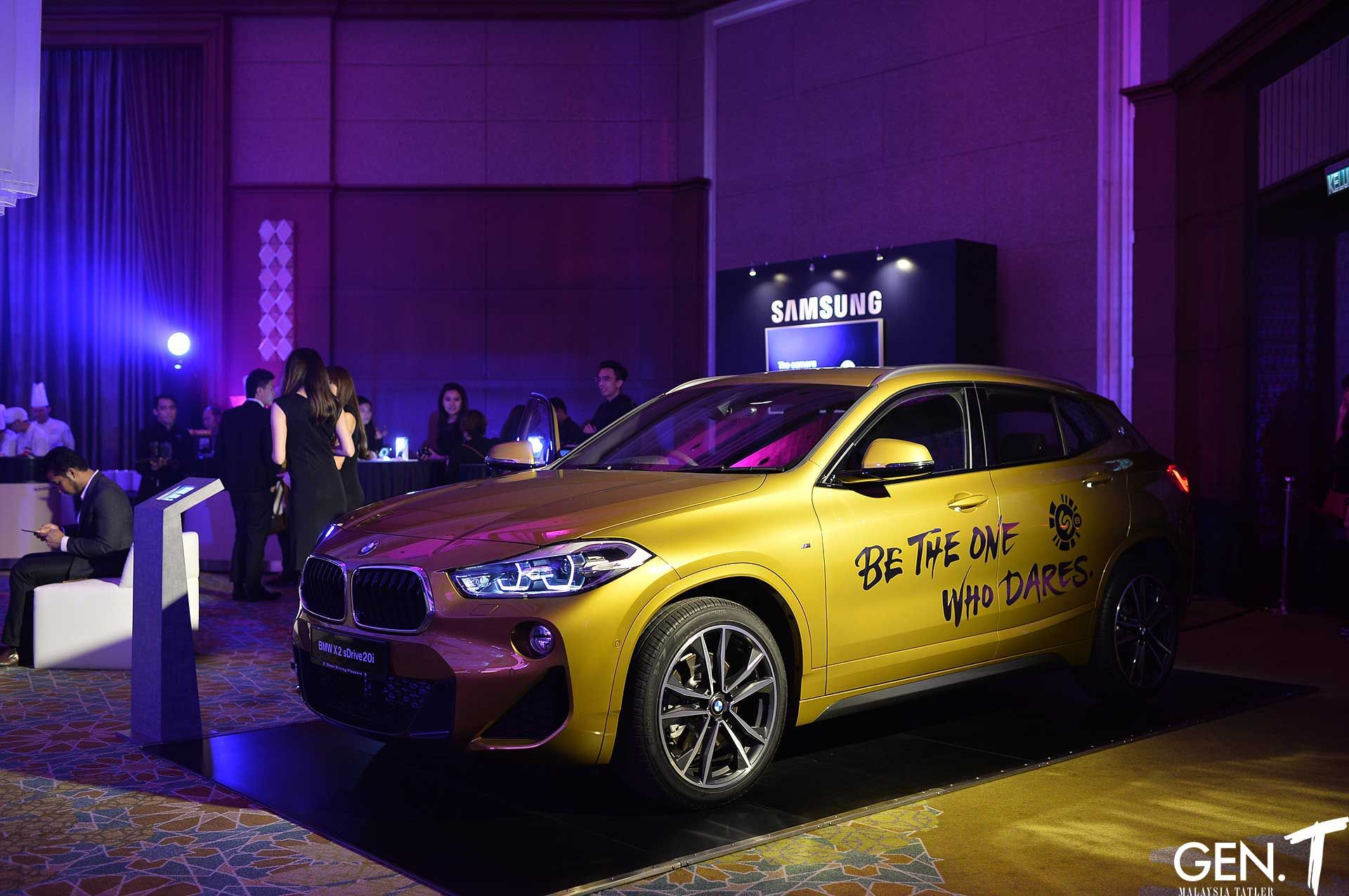 BMW X2 on display