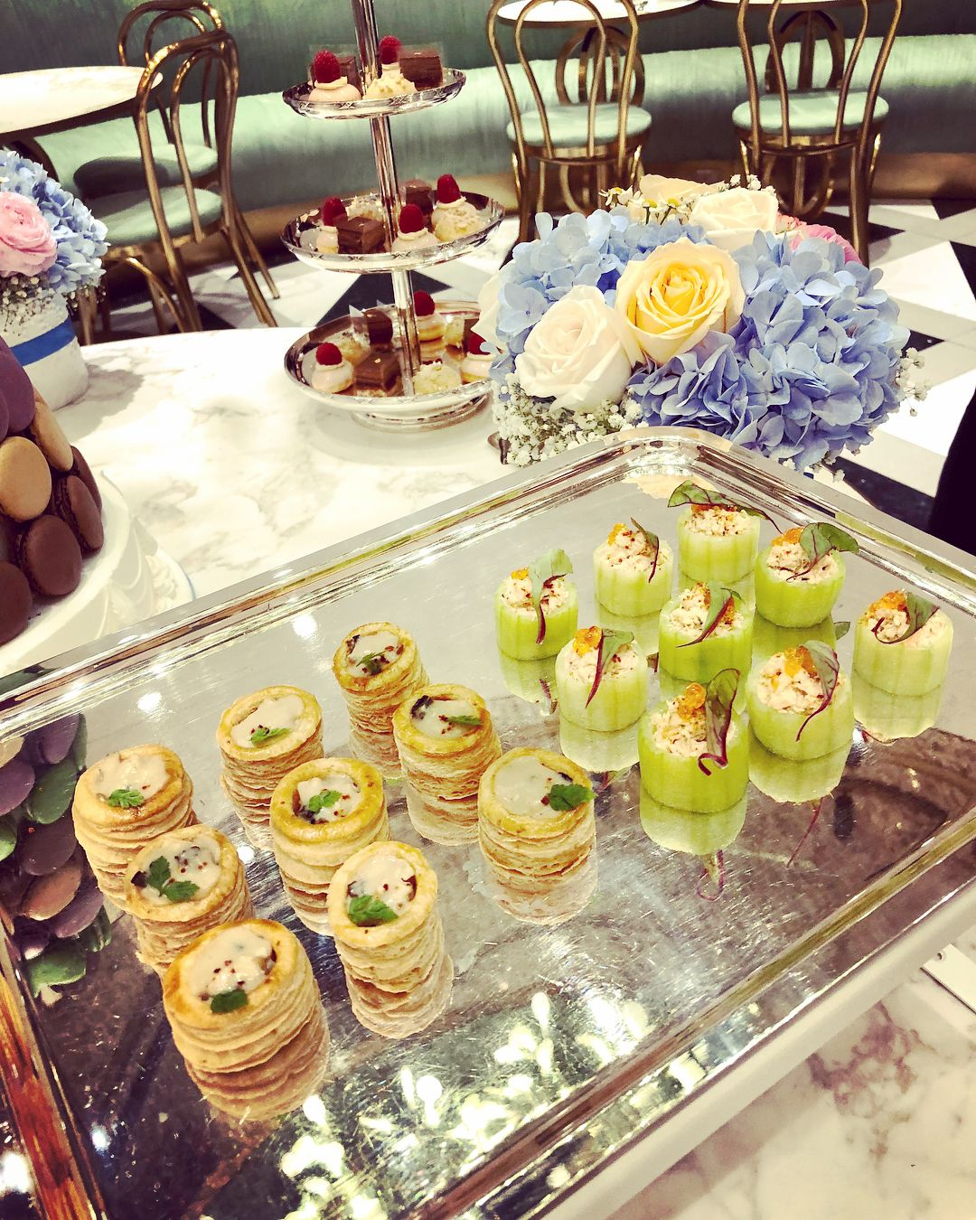 Dainty canapes that kept the party buzzing all morning (Photo: @yiulin)