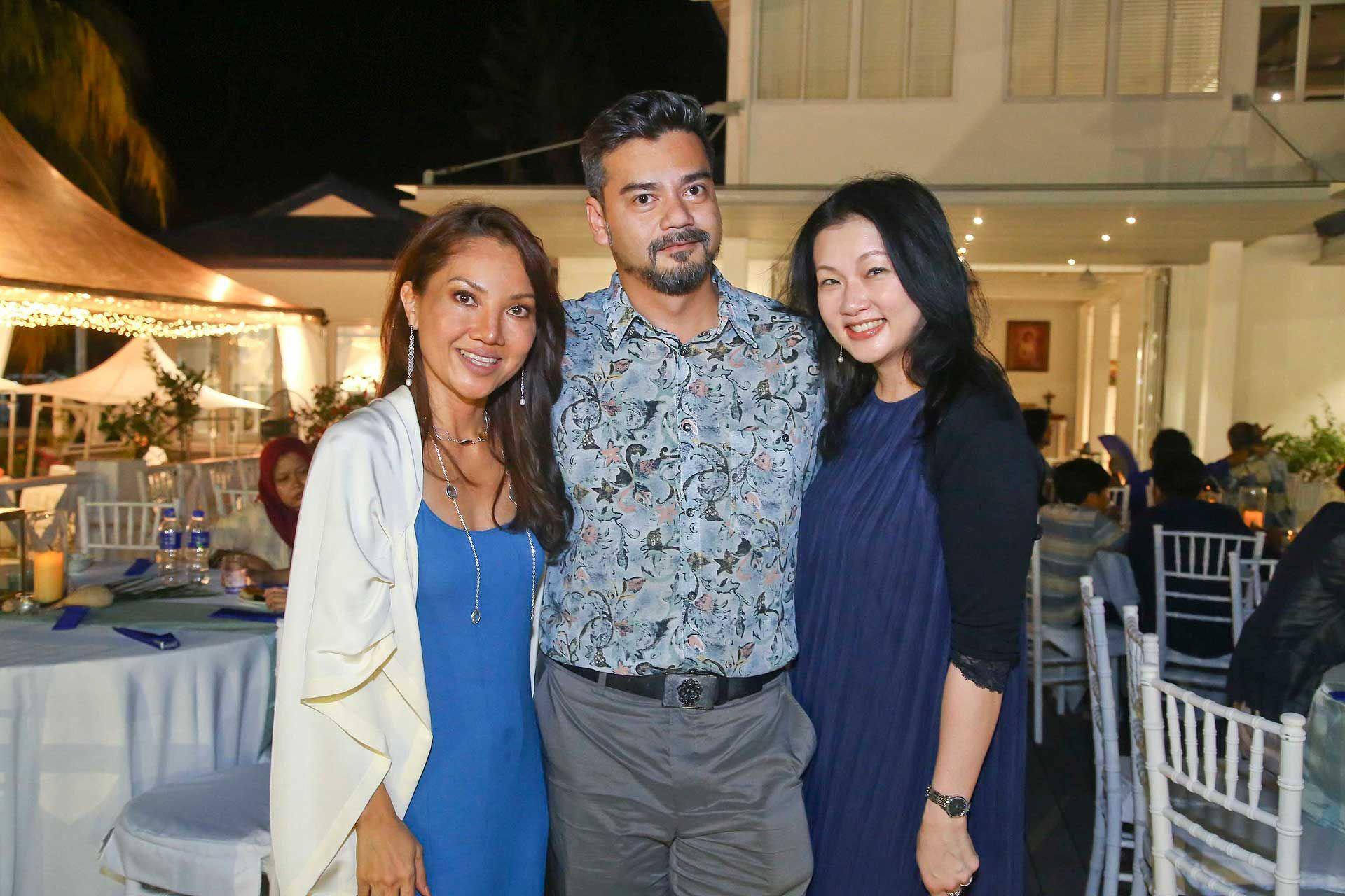 Nicola Tiong, Tunku Nasiruddin and Tuty Faezah