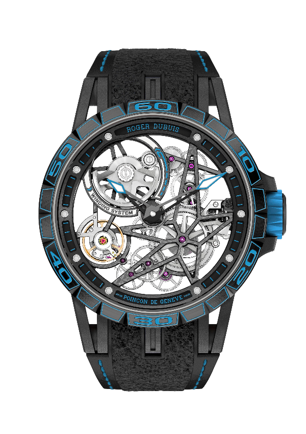 The Pirelli Excalibur Spider with deep blue accents (Photo: Roger Dubuis)
