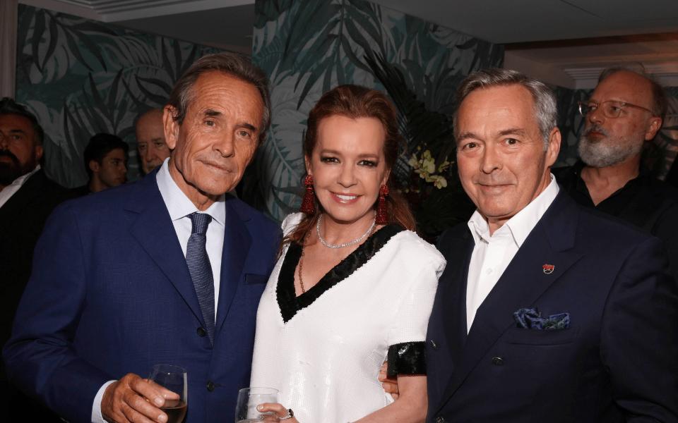 Jacky Icks, Caroline Scheufele and Karl-Friedrich Scheufele