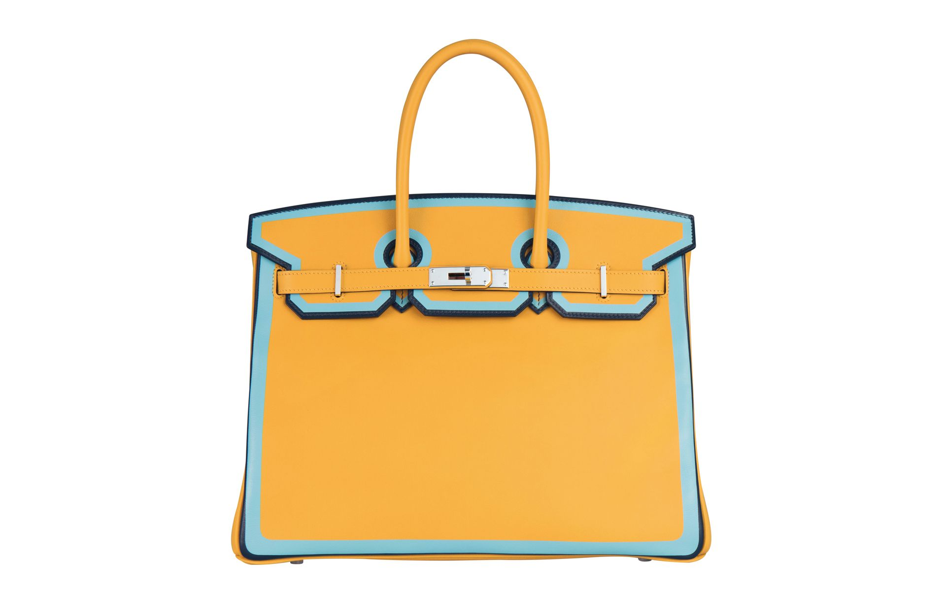 This Exquisite Hermes Birkin From The Spring Summer 2018 Collection Is Dressed In A Refreshing Colour Of Season Photo