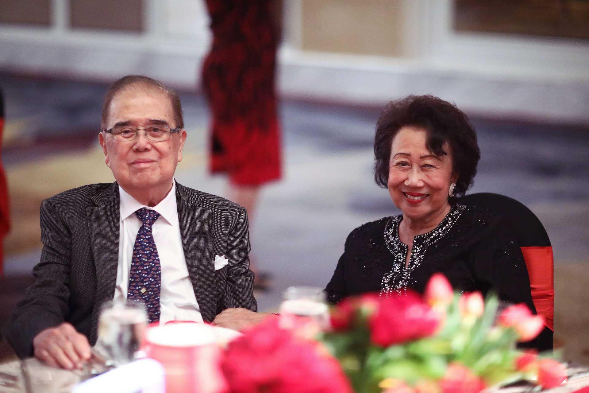 Tun Micheal Chen and Toh Puan Helen Chen
