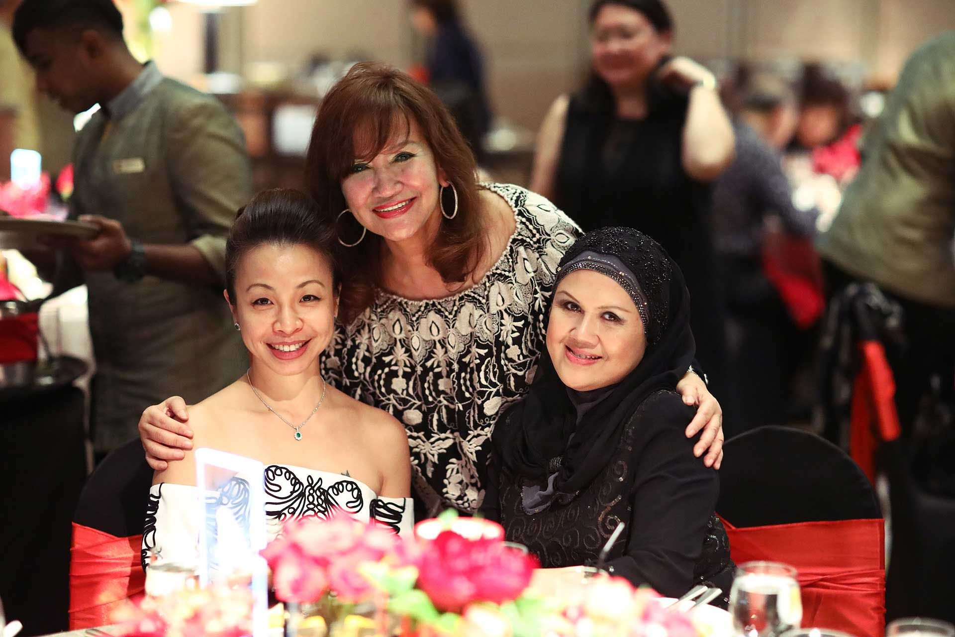 Elizabeth Marini, Dato' Rosemarie Wee and Dato' Seri Toh Puan Noor Suzanna Abdullah