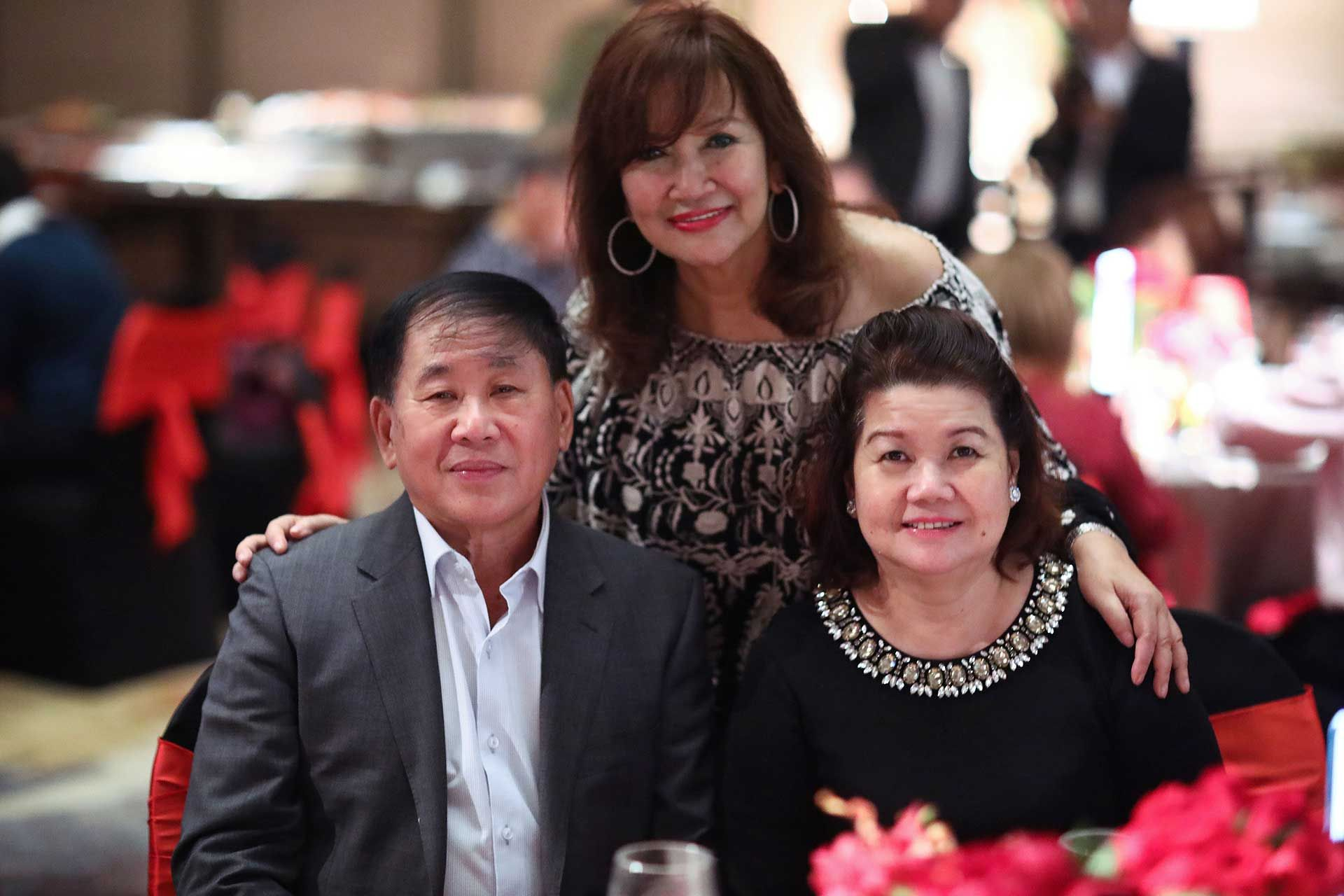 Tan Sri David Cheng, Dato' Rosemarie Wee and Puan Sri Mae Cheng