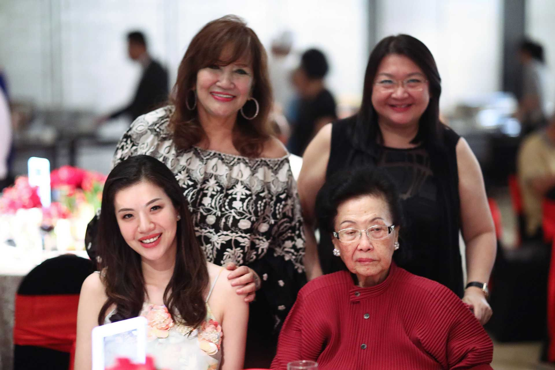 Toh Su Quinn, Dato' Rosemarie Wee, Datin Maggie Teh and Jenny Tan