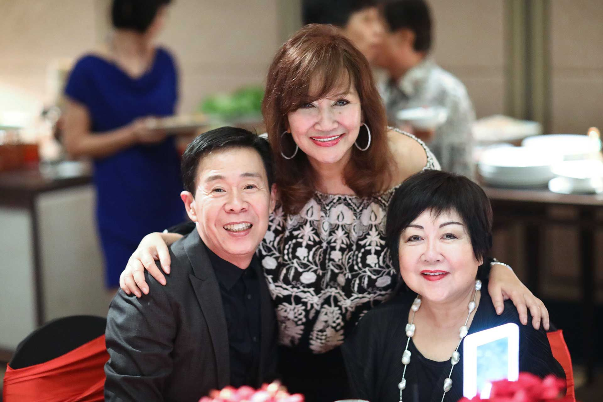 Albert King, Dato' Rosemarie Wee and Pauline Tan