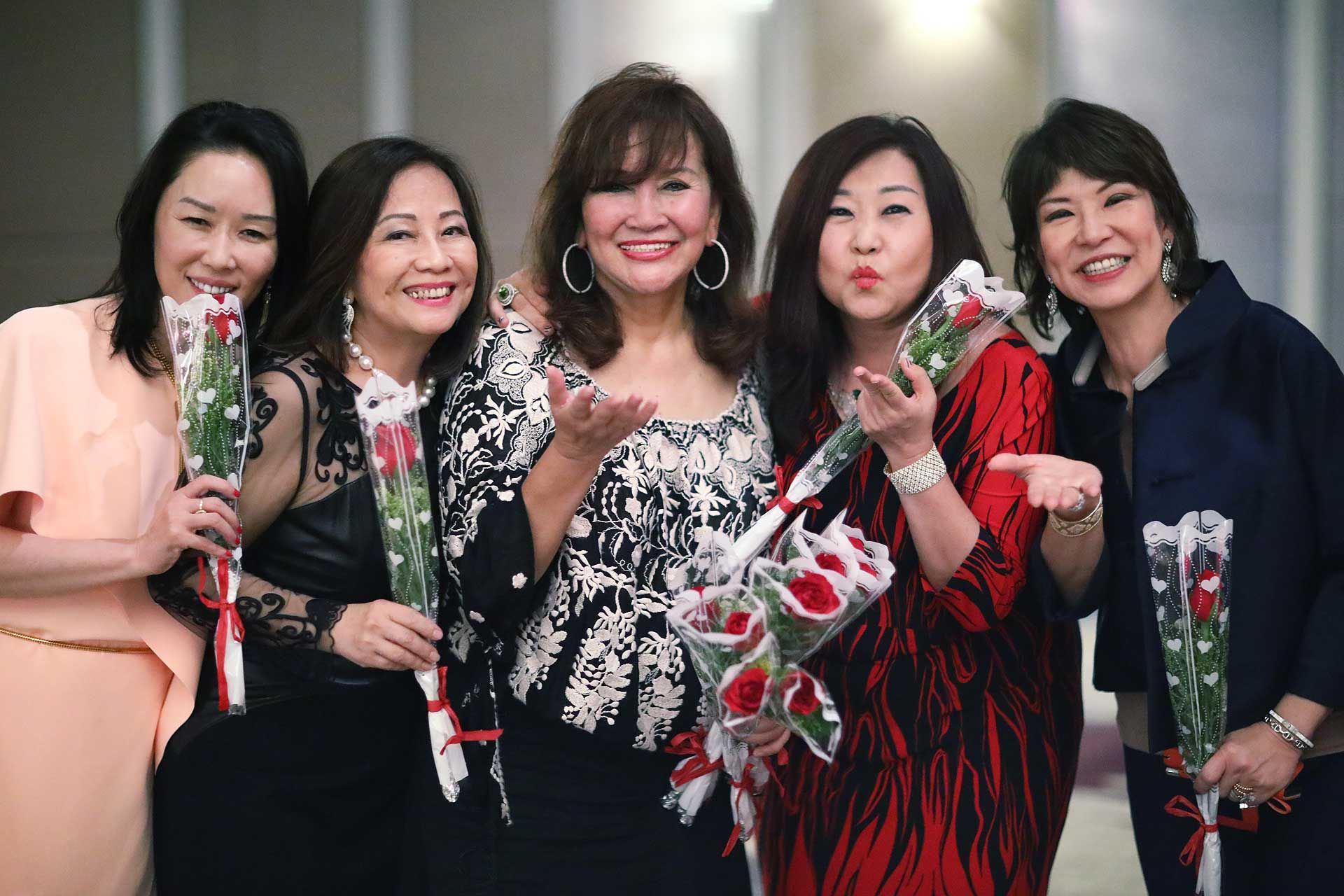 Shawna Yap, Molly Lim, Dato' Rosemarie Wee, Sharon Yap and Lim Meng Hong