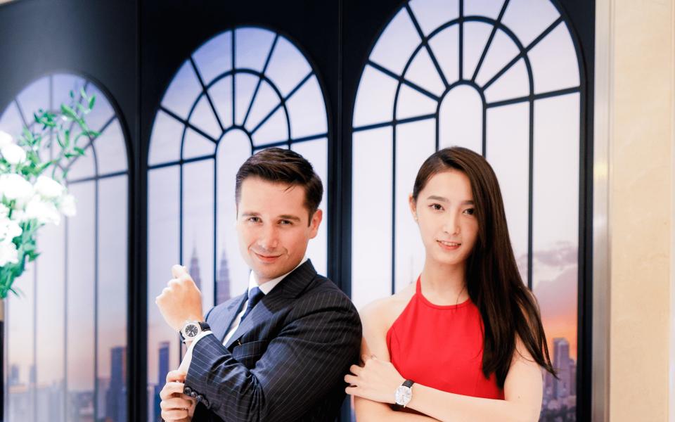 Maxime de Techtermann and Jacqueline Tiang