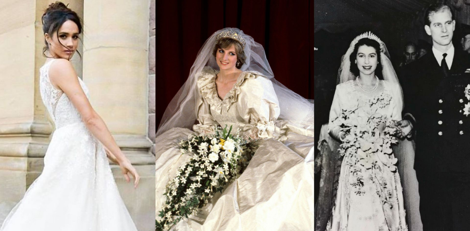 The Evolution Of Royal Bridal Gowns & How Meghan Markle Might Shake ...