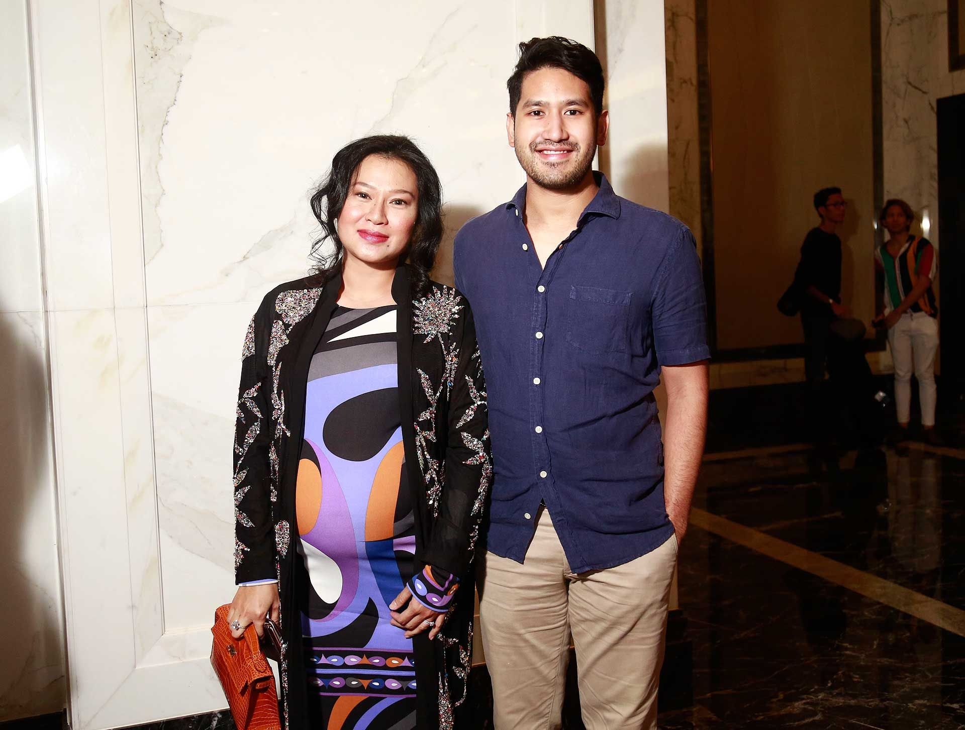 Dato' Sri Rozita Ramelan and Devan Linus