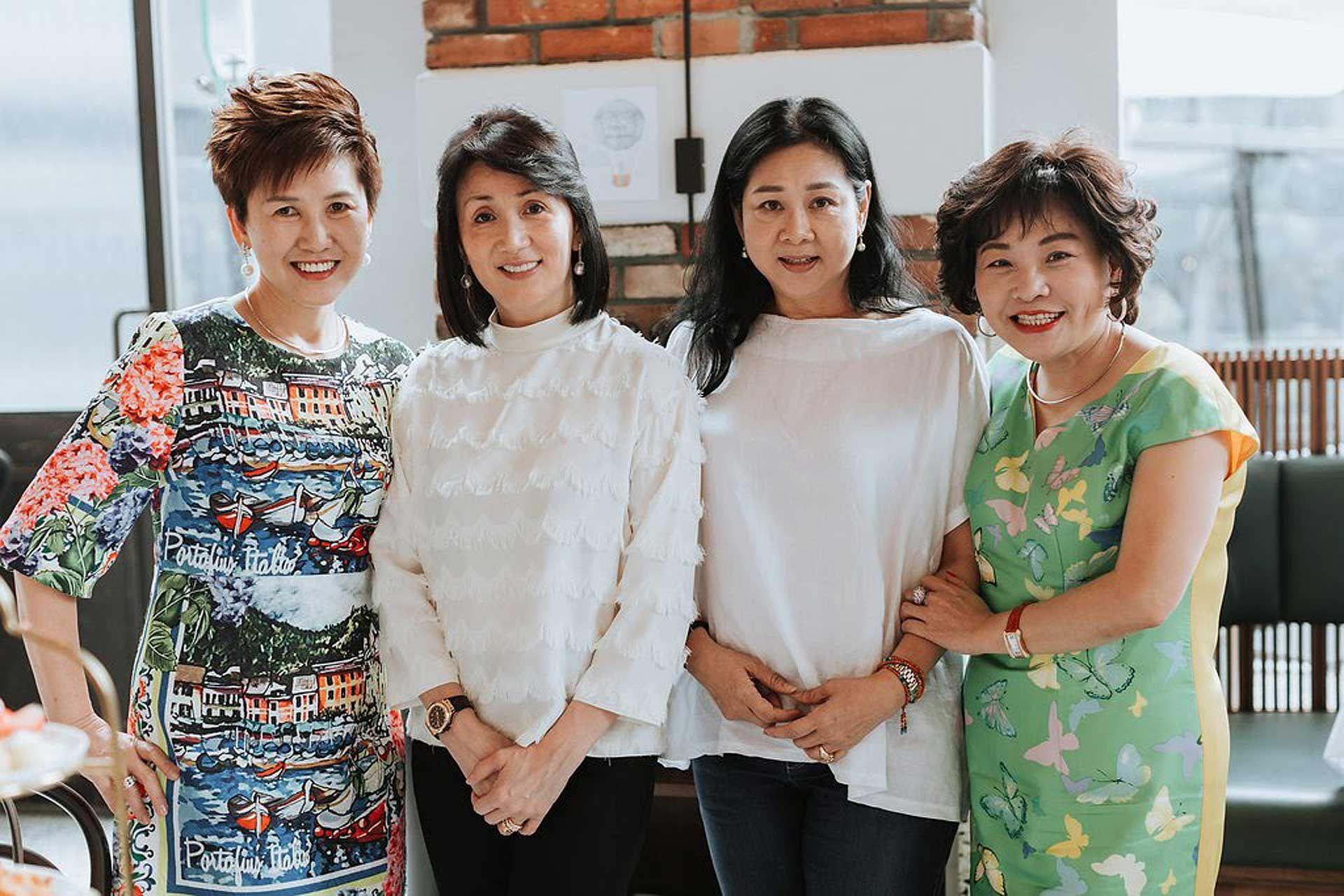Puan Sri Sulvian Leong, Puan Sri Annie Saw, Puan Sri Tan Bee Hong and Sali Chen