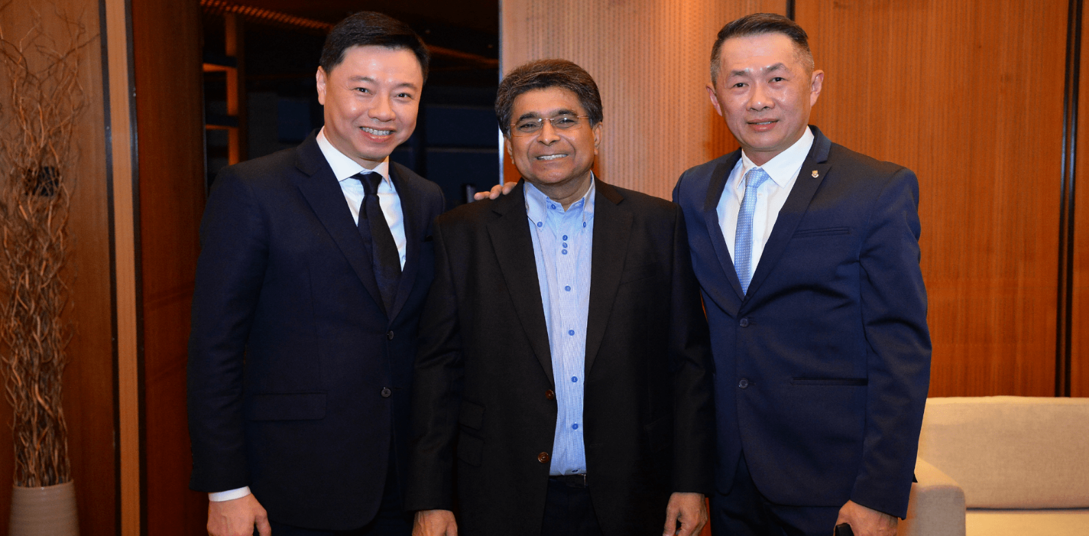 Tay Liam Khoon, Dato' Sri Jeffrey Raymond and Chris Wan