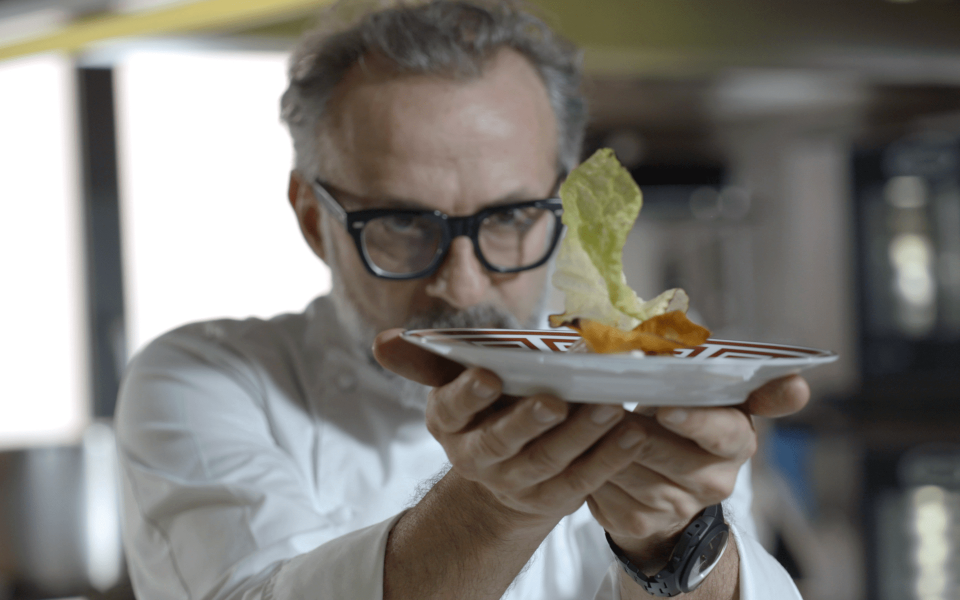 Massimo Bottura in a scene from