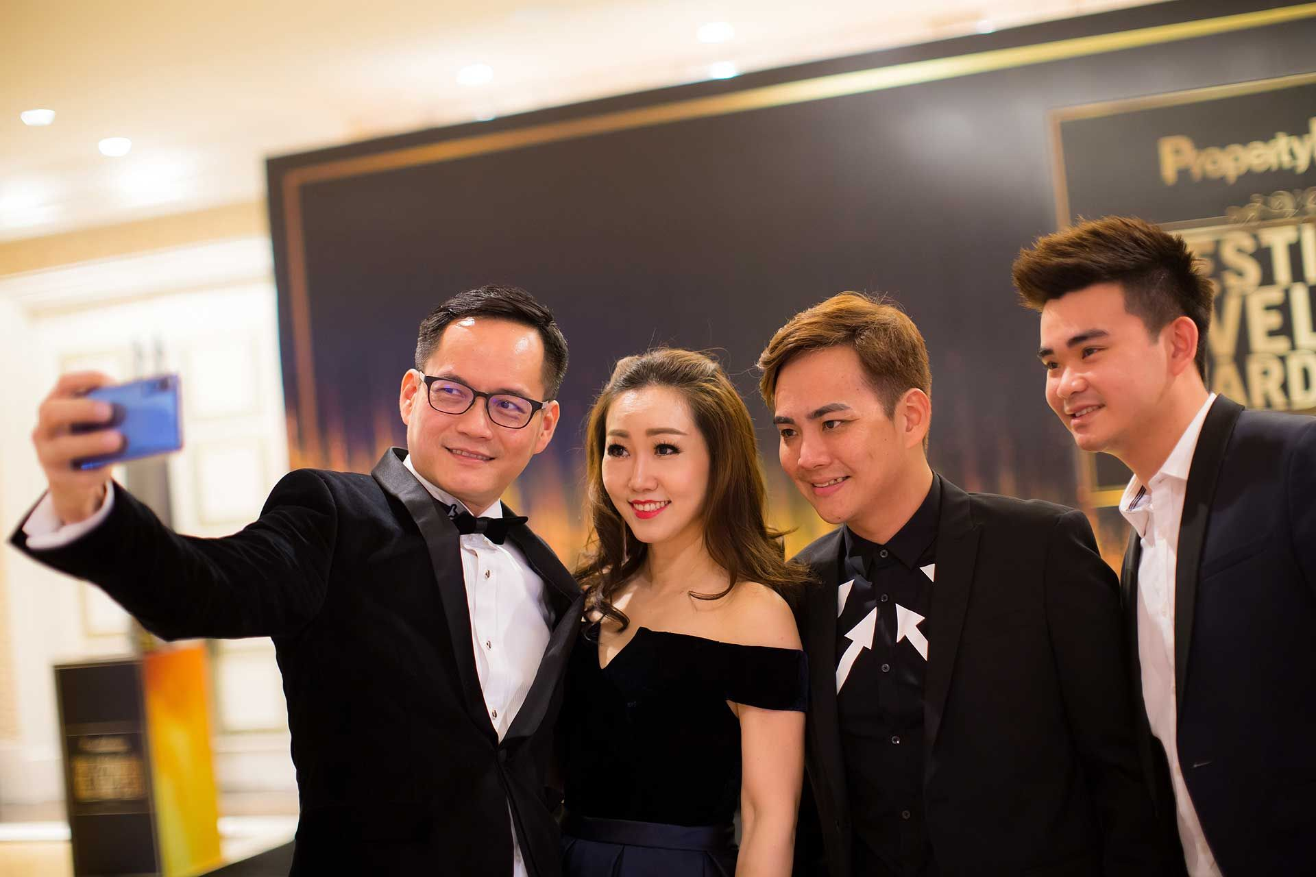 Dato' Joe Yew, Datin Kuan Chu Ling, Dato' Calvin Khiu and SK Moon