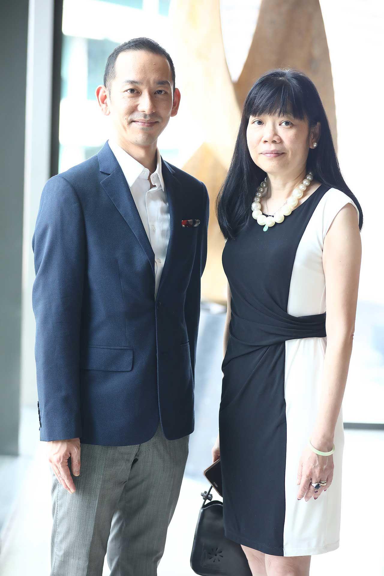 Chef Saito Makoto and Shereen Leong