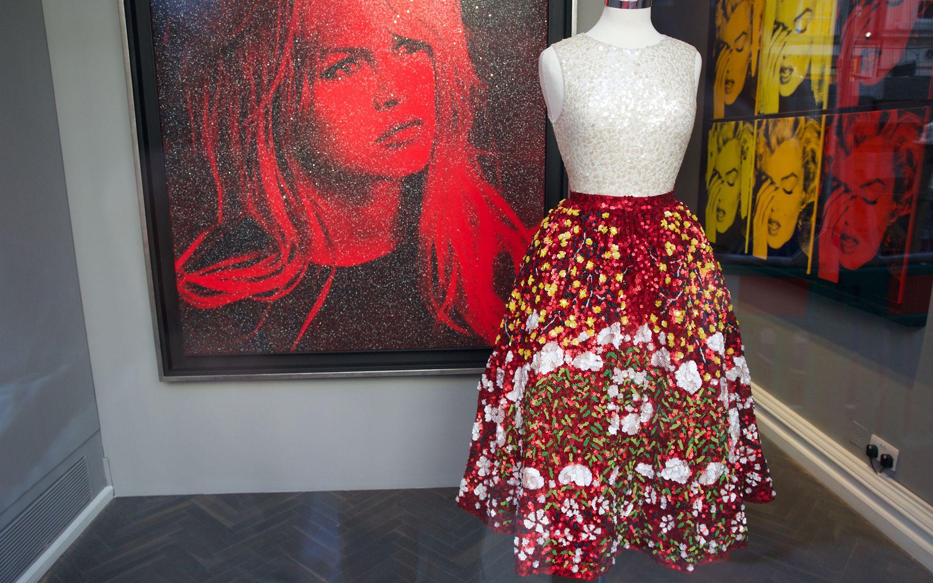 A Pierre Bonnard-inspired Farah Khan Couture skirt. Photo: Piers Allardyce