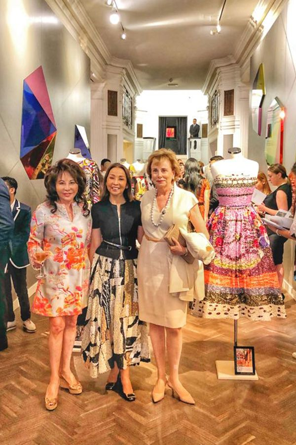 Lady Linda Davies, Dato' Seri Farah Khan and Her Excellency Evelyne Genta