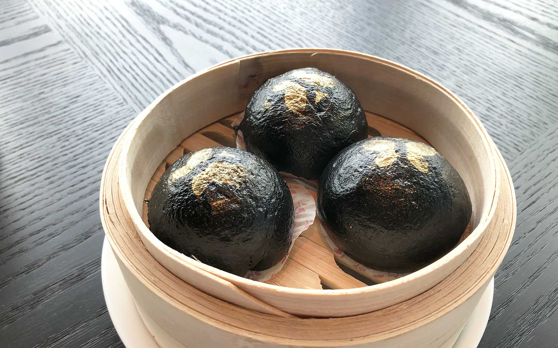 Steamed Charcoal Lava Bun