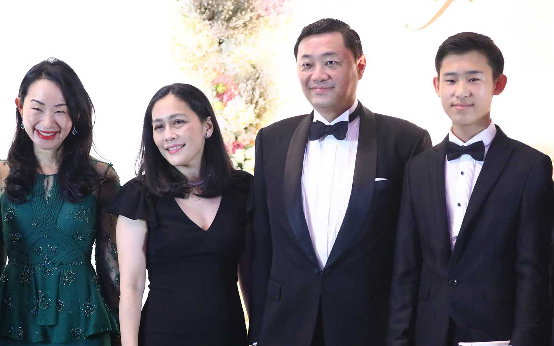 Nerine Tan, Datin Sri Leow Hui Hsien, Dato' Sri Robin Tan and Tristan Tan