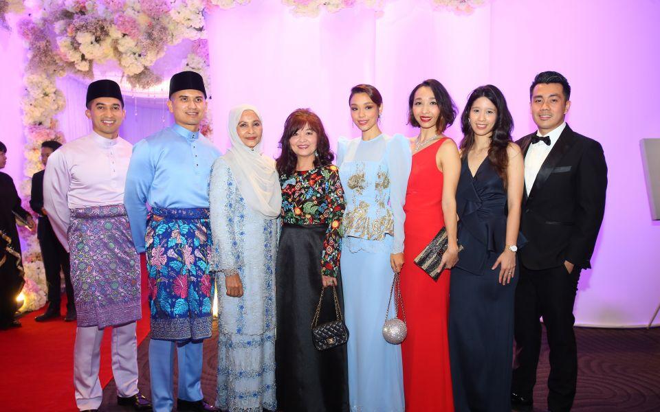 SM Nasarudin Nasimuddin, Datuk Wira SM Faisal Nasimuddin, Puan Sri Zaleha Ismail, Min Caunter, Marion Caunter, Stephanie Caunter, Gillian Caunter and Andrew Khoo