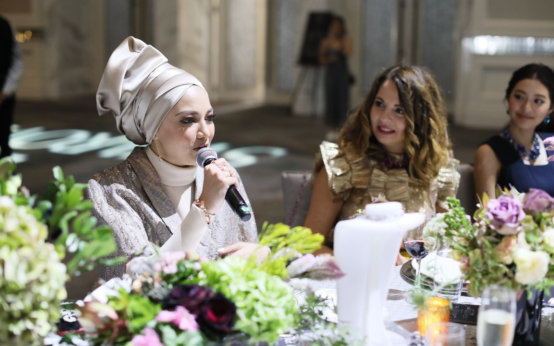 Neelofa and Nathalie Colin
