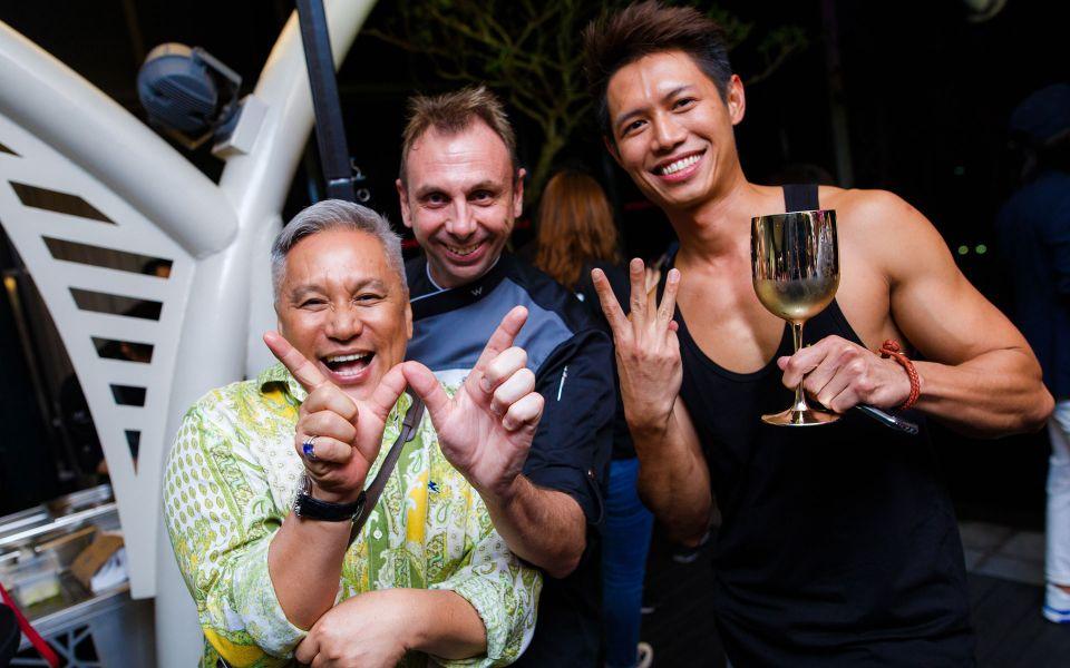 Chef Wan, Richard Millar and Leoniel DG