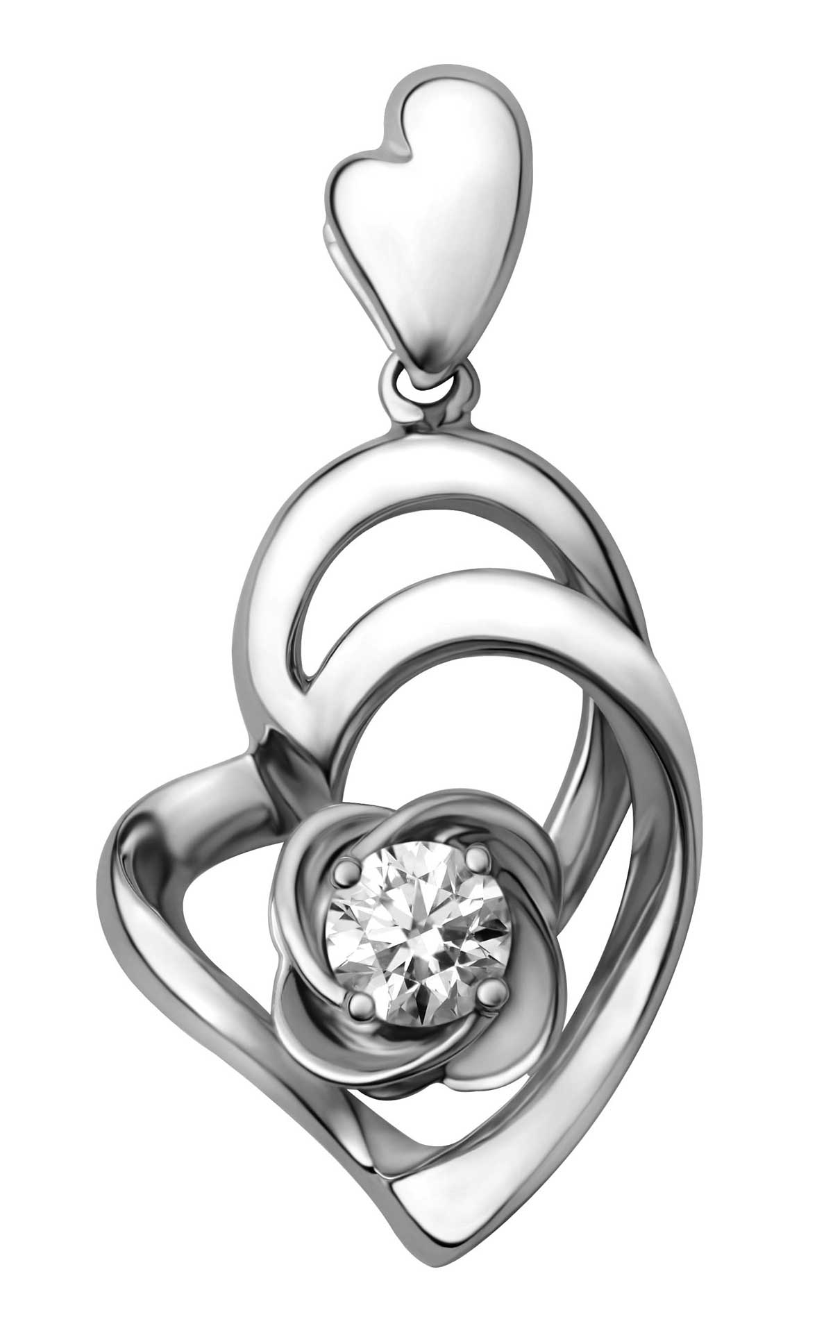 'Memories' limited edition diamond pendant in 18K white gold. (Photo: Le Lumiere)