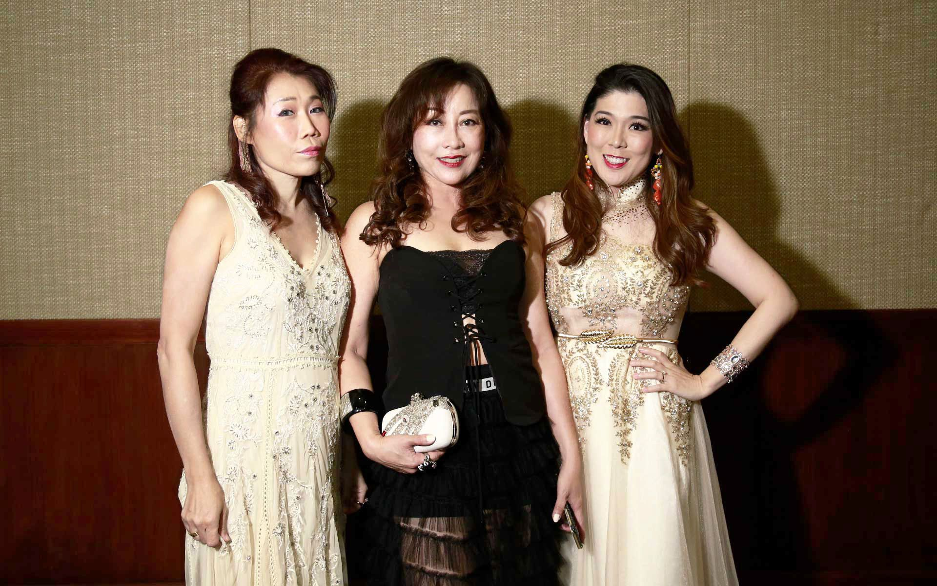 Janet Lim, Teresa Sia and Evelyn Wong