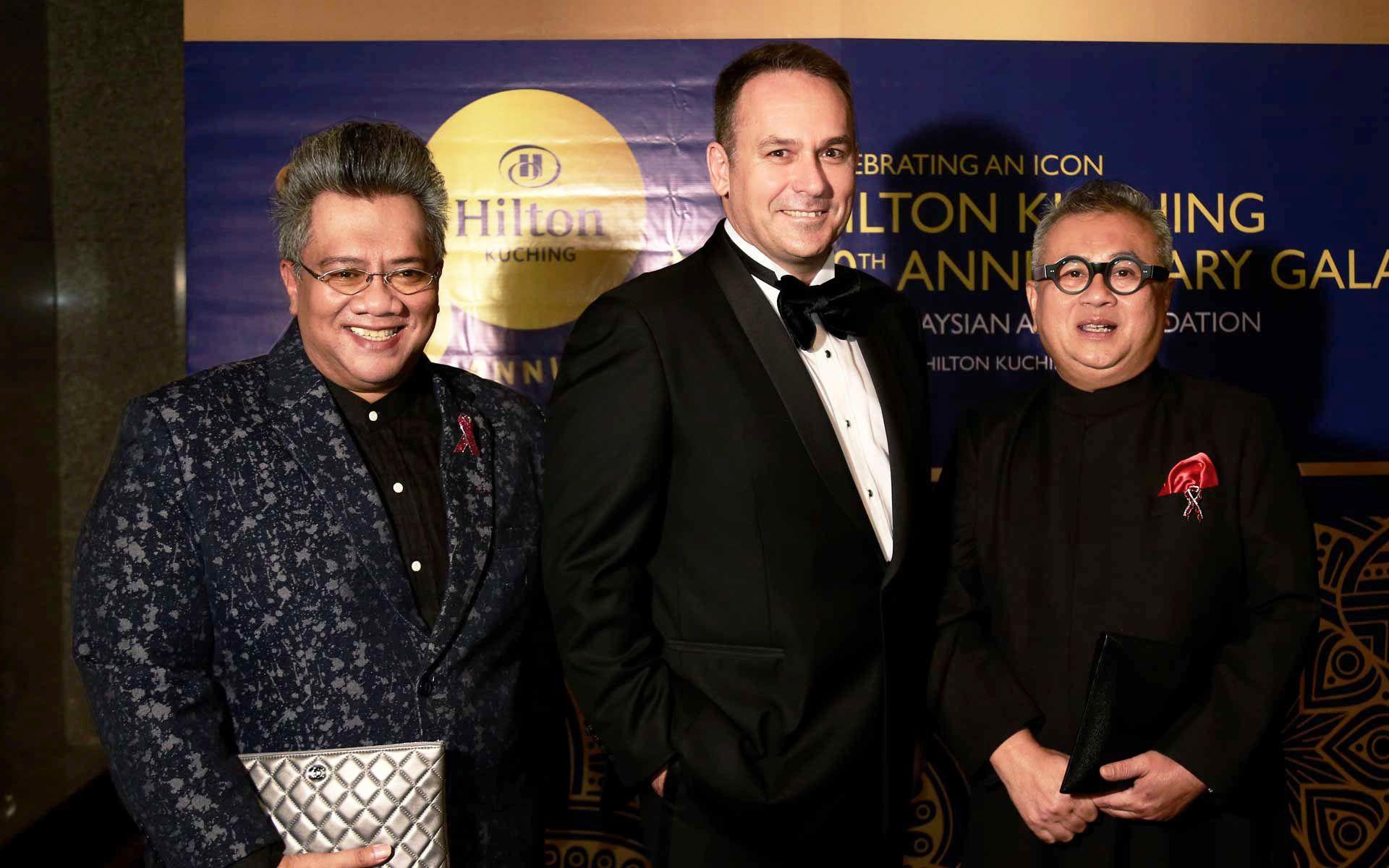 Yazlan Yahya, Hamish Watts and Chef Dato' Ismail Ahmad